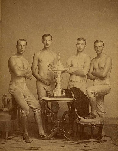 Yale four-oared crew team, 1876