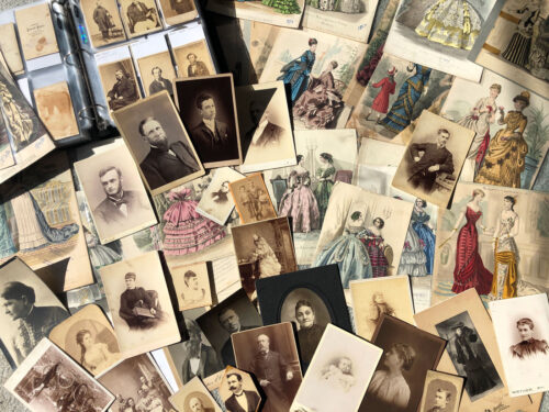 Photographs and fashion plates from our collection